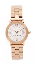 Marc Jacobs Small New Classic Tbd Watch Rose Gold White
