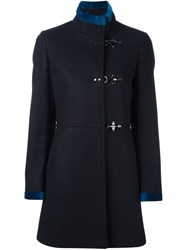 Fay Single Breasted Coat Blue