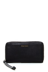Cole Haan Benson Pebble Leather Smartphone Wristlet Black