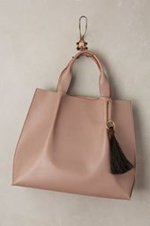 Anthropologie Maggie Tassle Tote Taupe