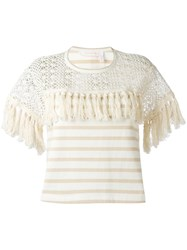 See By Chloe Striped Blouse White