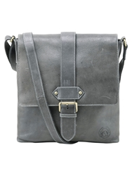 Tog 24 Henley Leather Holdall Dark Grey