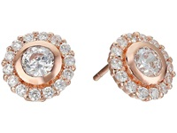 Nina Ingram Earrings Rose Gold Cz Earring Orange