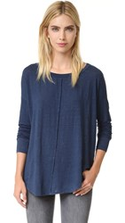 Velvet Bessie Long Sleeve Tee Tanzanite