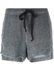 Lost And Found Rooms Raw Hem Shorts Black