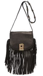 Botkier Clinton Fringe Saddle Bag Black