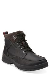 Clarks 'Ryerson Dale' Waterproof Snow Boot Men Black Tumbled Leather