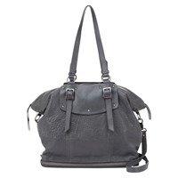 Mint Velvet Stevie Leather Tote Bag Grey