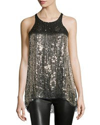 Parker Brody Embellished Sleeveless Top Gold