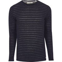 Only And Sons River Island Mens Navy Ribbed Knit T Shirt