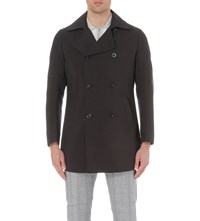 Reiss Oliver Shell Trench Coat Off Black