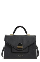 Ted Baker London Faux Leather Satchel Black