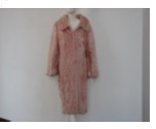 Helen Yarmak Baby Lamb Coat With Wing Collar On Cashmere Snaps Closure Long Sleeves 100 Silk Lining. Fur Origin China Pink