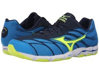 Mizuno Wave Hitogami 3 Dude Blue Safety Yellow Dress Blue Men's Running Shoes