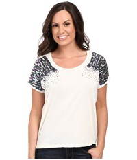 Rock And Roll Cowgirl Short Sleeve Dolman 47 7239 White Women's Short Sleeve Pullover