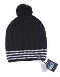 William Rast Cable Knit Skully Beanie Black