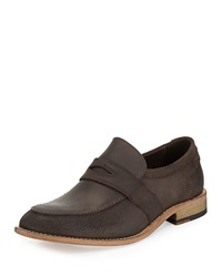 Andrew Marc New York Andrew Marc District Soft Leather Loafer Dark Brown Natural