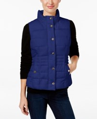 Charter Club Petite Quilted Vest Only At Macy's Blue Regalia