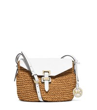 Naomi Medium Straw Crossbody