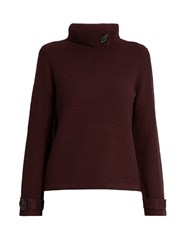 Goat Halston Roll Neck Sweater Burgundy