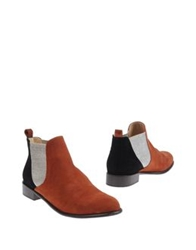 Mysuelly Ankle Boots Brown