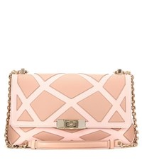 Roger Vivier Prismick Mini Leather Shoulder Bag Pink