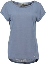 Garcia T Shirt With Embellished Neckline Blue