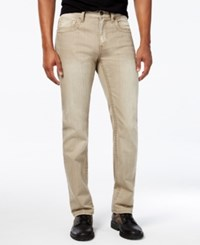 Inc International Concepts Men's Lowery Slim Straight Jeans Only At Macy's Khaki Wash