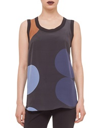 Akris Punto Circle Print Combo Tank Top