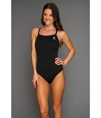 Tyr Durafast Elite Solid Diamondfit Black Women's Swimsuits One Piece