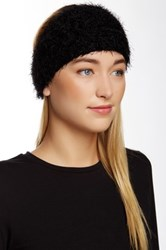 David And Young Fuzzy Flower Headwrap Black