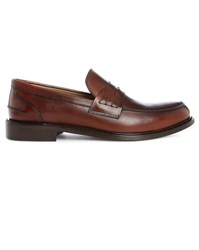 Estime Cognac Km9 Leather Penny Loafers Brown