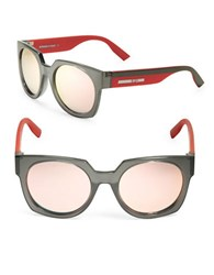 Mcq By Alexander Mcqueen Color Block 53Mm Round Sunglasses Grey