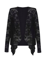 Mela Loves London Lace Waterfall Jacket Black