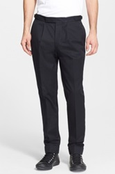 Officine Generale Cotton Pants With Adjustable Waist Blue