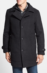 Rodd And Gunn 'Westown' 3 In 1 Wool Blend Coat Onyx