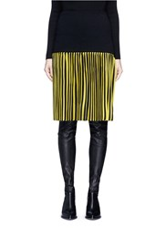 Givenchy Pleated Stripe Wool Blend Skirt Multi Colour