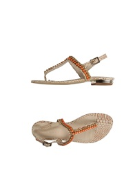 Supertrash Thong Sandals Beige