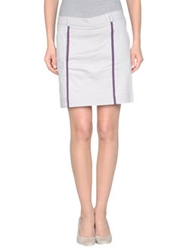 Emporio Armani Ea7 Knee Length Skirts Light Grey