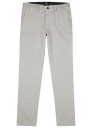 7 For All Mankind Luxe Performance Grey Cotton Blend Chinos