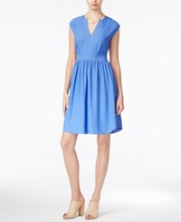 Maison Jules Cap Sleeve Fit And Flare Dress Only At Macy's Amparo Blue
