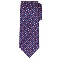 John Lewis Made In Italy Balena Silk Tie Blue Red
