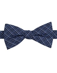 William Rast Grid Patterned Bow Tie Navy
