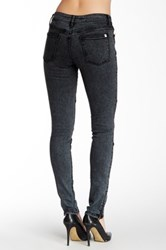 Melrose And Market Acid Wash Ankle Zip Skinny Jean Blue