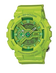 G Shock Baby G S Series Lime Stainless Steel And Resin Strap Watch Green