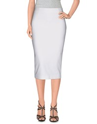 Space Style Concept Skirts Knee Length Skirts Women White