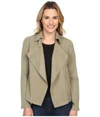 Bobeau Cropped Trench Olive Women's Coat