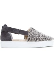 Amb 'Poodle' Cut Out Sneakers Grey