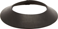 Rick Owens Black Matte Leather Notched Bangle