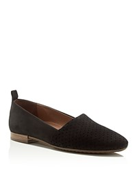 Paul Green Anita Perforated Loafer Flats Black